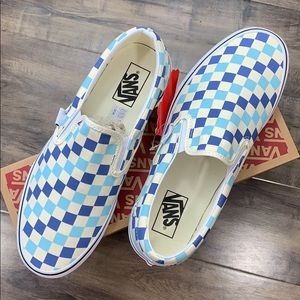 Vans Classic Slip-On Checkerboard Blue Topaz wmns